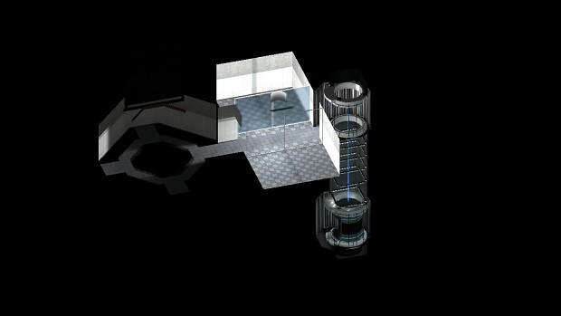 Final test chamber layout (Boss battle)