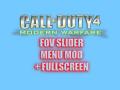 COD4: FOV Slider Menu Mod