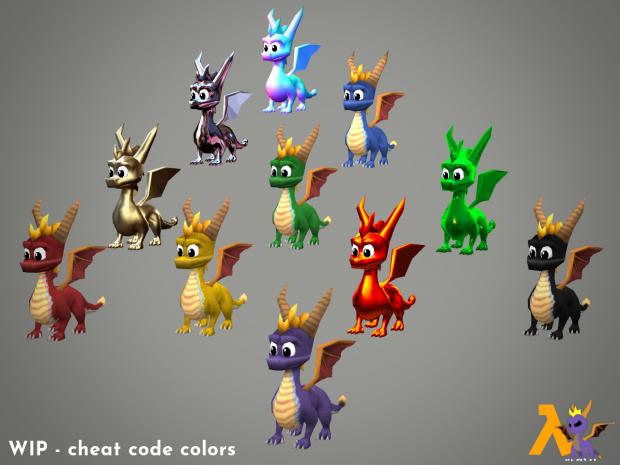 Cheat code colors!