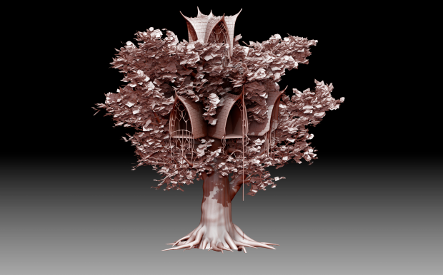 Elven Buildings 3d models