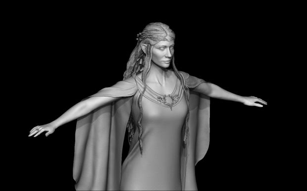 Lady Galadriel 3D model