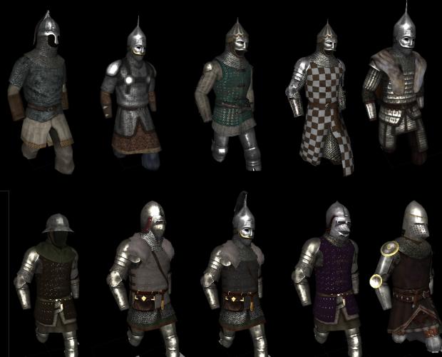 Some Vaegir Medium/Heavy Armor Combinations