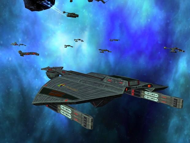 A Ber'taa in fleet action