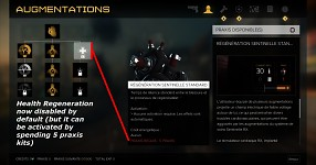 Deus Ex Mankind Divided Mod : Health Regeneration Disabled