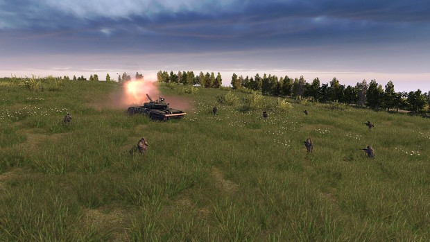 Offensive with the support of the T64BV