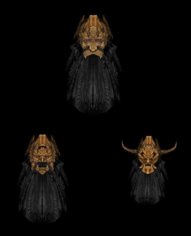 Orocarni War Masks