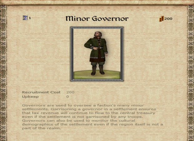 Edain Minor Governor Info