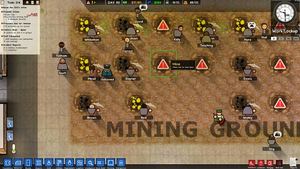 how to add regime timeslot prison architect