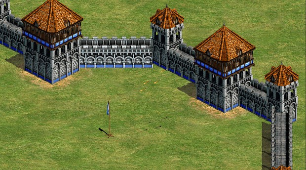 flanking tower