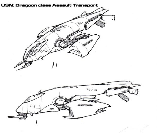 Concept Collage 9 Dragoon Class Assault Transport Image