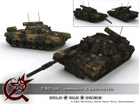 T-80 UK Damaged & Destroyed Skin & Model