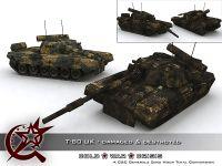 T-80 UK Damaged & Destroyed Skin & Model