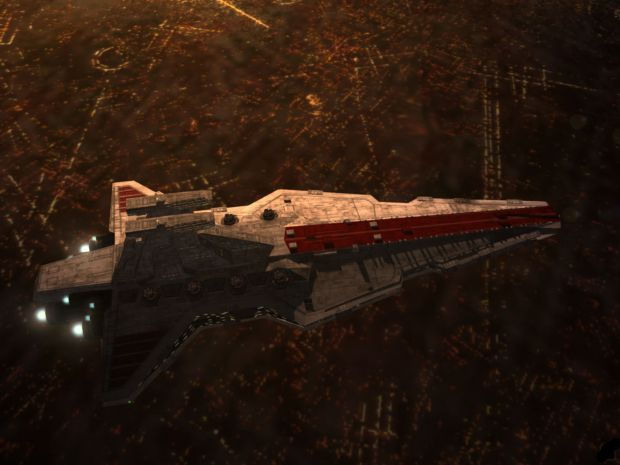 Venator over Coruscant