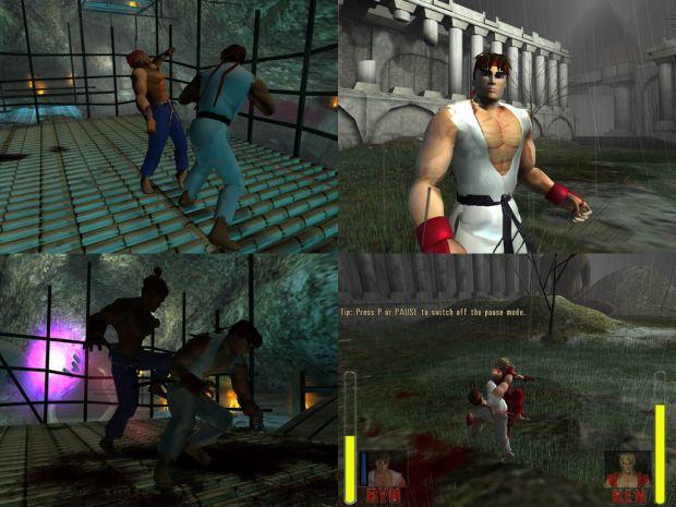 Ryu Vs Akuma Ryu Vs Ken Image Streetfighter Mod For Max