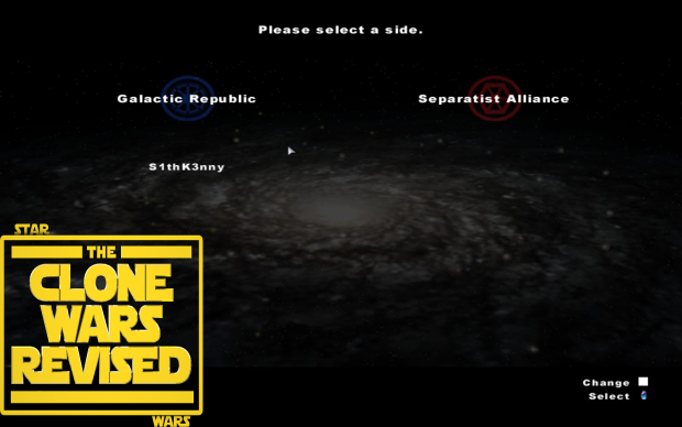 Choosing Sides when starting the Galactic Conquest