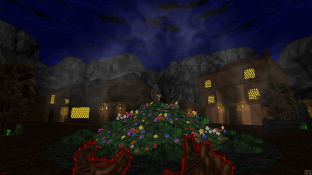 Town & Piotyr's ghost at night