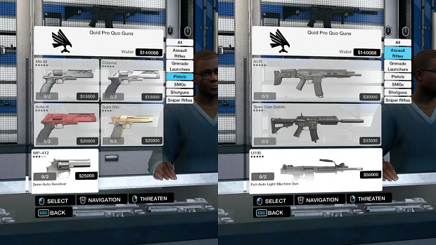 Unlocked Weapons - LIMITED_INVENTORY