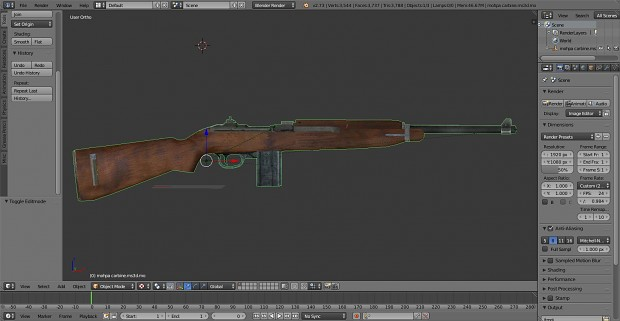 M1 carbine with the Oiler in the stock
