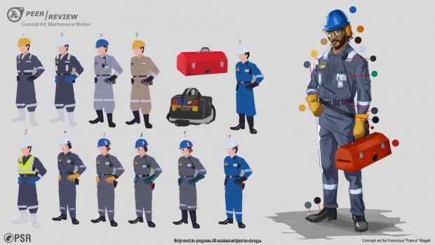 Maintenance Worker Concept Art