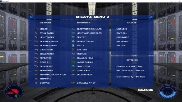 Menu Cheats Inventory