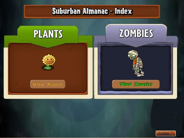 Almanac image - Plants vs Zombies - IO Series mod for Plants