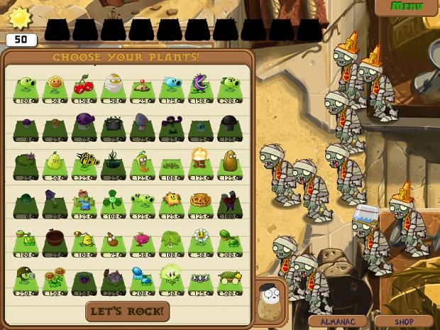 Image 5 - PvZ 1 - Ancient Egypt mod for Plants Vs Zombies