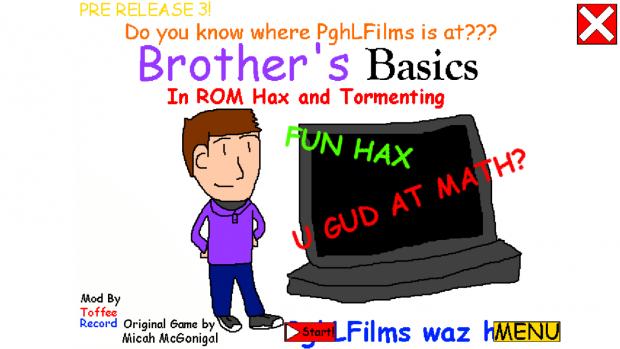 BBIRHAT TitleScreen 1 image - Brother's Basics in ROM Hax