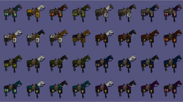 Barded Horses