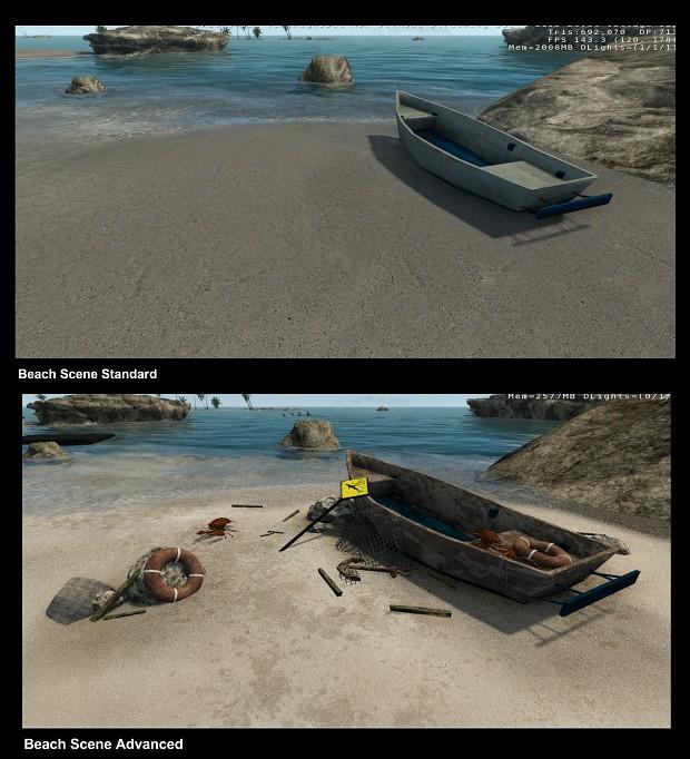 Beach Scene Comparison