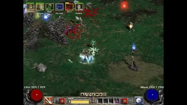 Sorceress in the Have Fun! mod for Diablo 2 Lord o