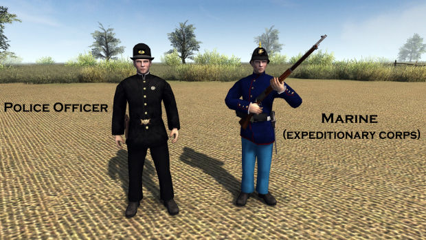 U.S Police and Marine