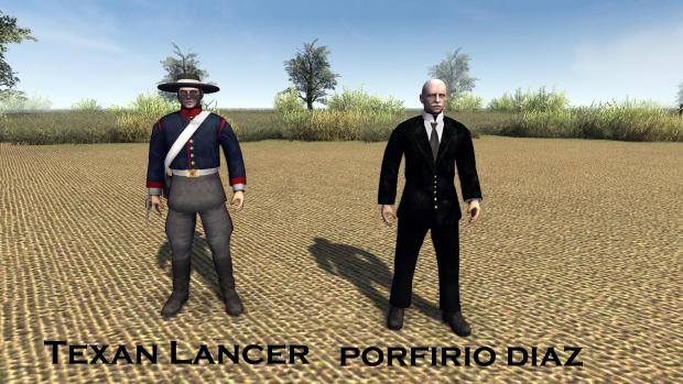 Texan lancer and Porfirio Diaz