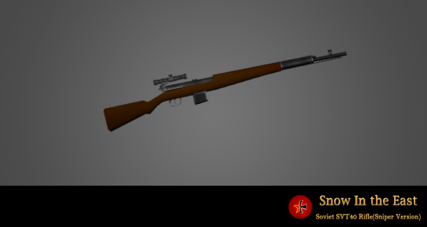 Soviet SVT40 Rifle(snipe version)