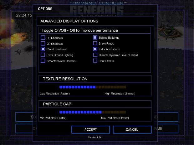 My graphics settings