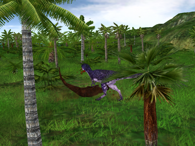 Rapator Hunting Another Theropod