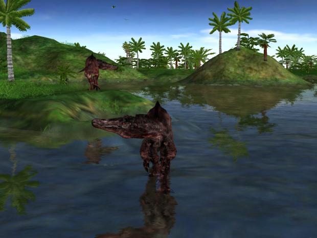 Cristatusaurus Chillin' In The Water