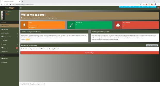 Website - Dashboard