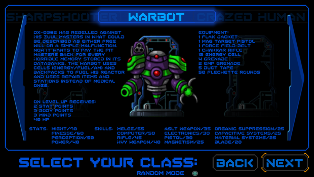NEW CLASS: Warbot