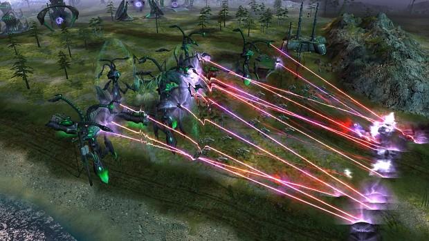 Reaper Tripod Red Tiberium Lasers