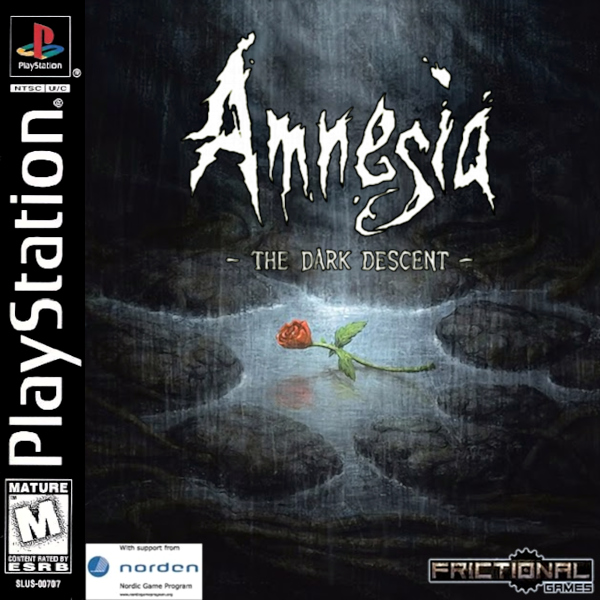 Amnesia: The Dark Descent (1998) Official PlayStation Case