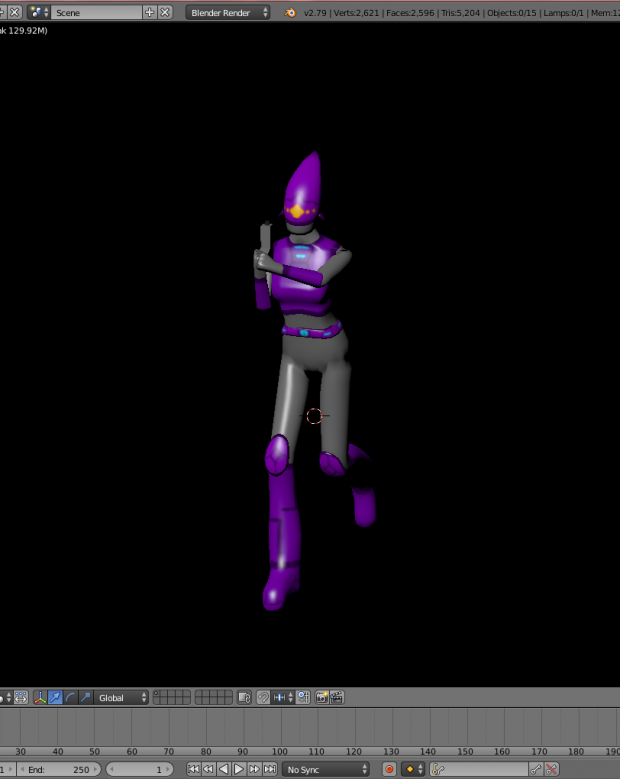 Rendered and textured model Example