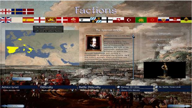 Faction Select Screen