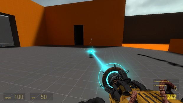 weapon laser from hl2 gauss's labs