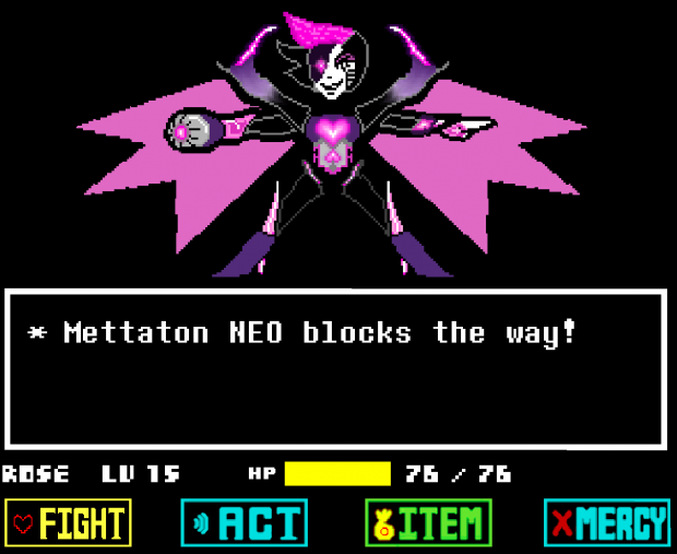 Mettaton Z stands in your way!