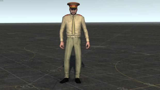 Soviet officer in field service uniform
