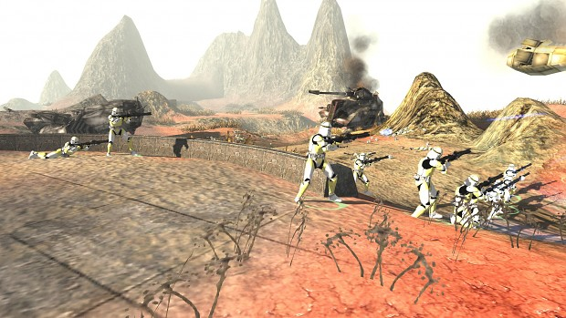 Phase 2 troopers shooting at something