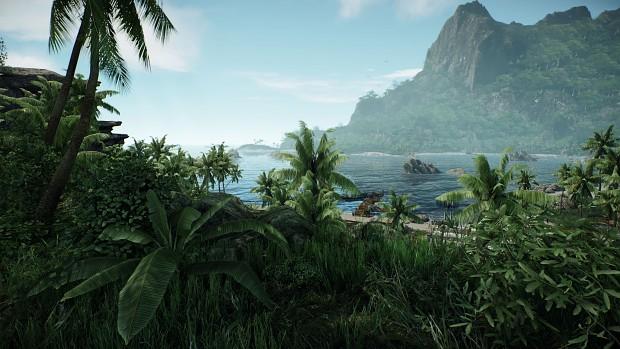Island view + Bokeh distant DOF