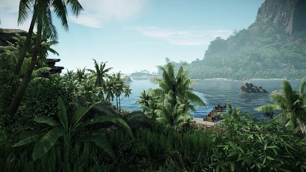 Island view + Distant Bokeh DOF