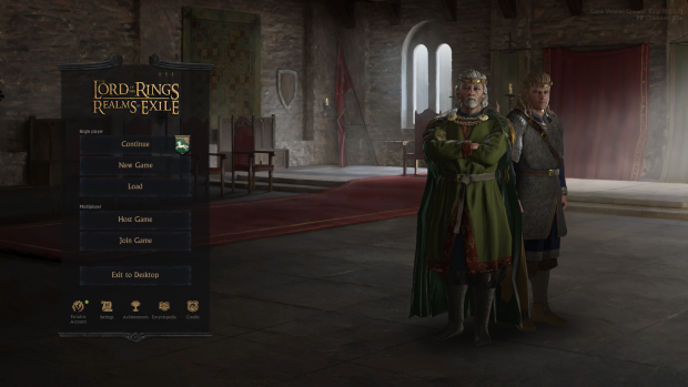 Main Menu with Theoden and Theodred