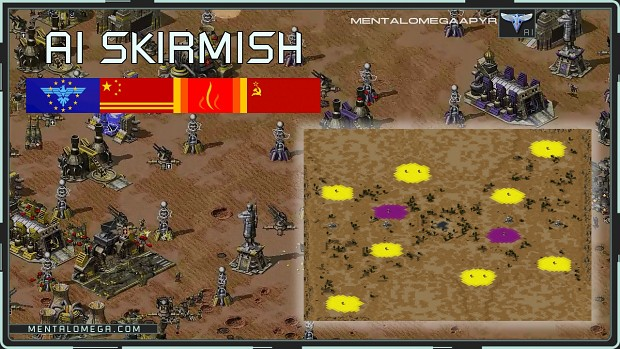 Mental Omega AI Skirmish - All Soviets & E.A.
